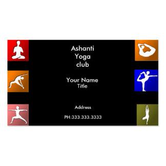 Tarjetas de visita de la yoga