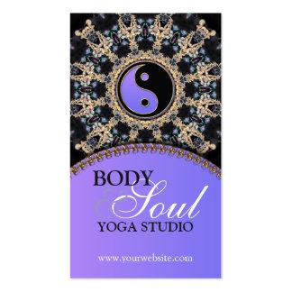 Tarjetas de visita de la yoga de la edad de las ge