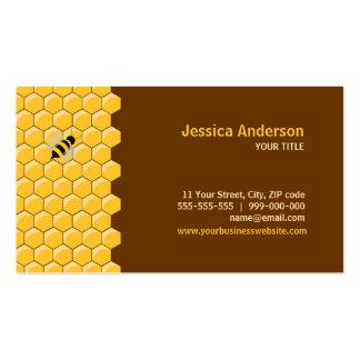 Tarjetas de visita de las abejas y del panal