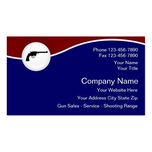 Tarjetas de visita de las armas de fuego