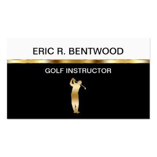 Tarjetas de visita de las lecciones de golf