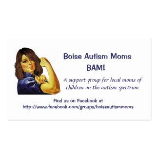 Tarjetas de visita de las mamáes del autismo de Bo