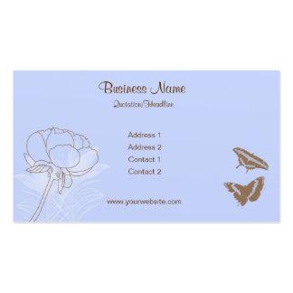 Tarjetas de visita de las mariposas del Peony y de