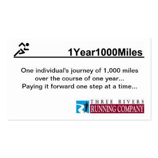 tarjetas de visita de las millas 1Year1000