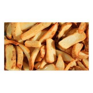 Tarjetas de visita de las patatas fritas