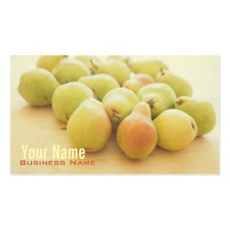 Tarjetas de visita de las peras