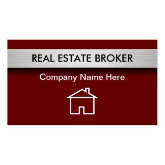 Tarjetas de visita de las propiedades inmobiliaria