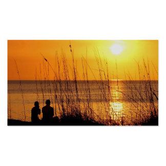 Tarjetas de visita de las puestas del sol de la Fl