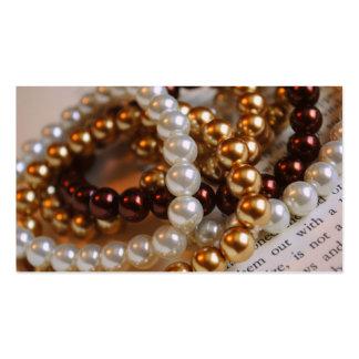 Tarjetas de visita de las pulseras de la perla