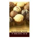 Tarjetas de visita de las trufas de chocolate