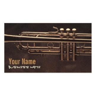 Tarjetas de visita de las válvulas de la trompeta