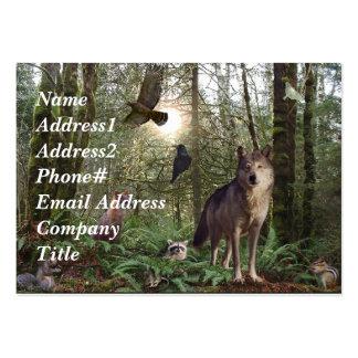 Tarjetas de visita de los animales del bosque