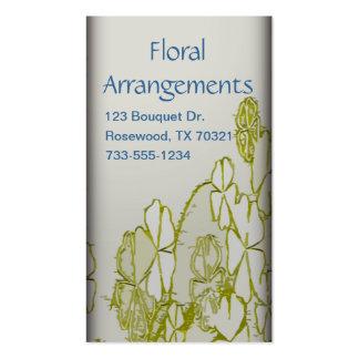 Tarjetas de visita de los arreglos florales