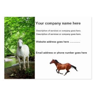 Tarjetas de visita de los caballos