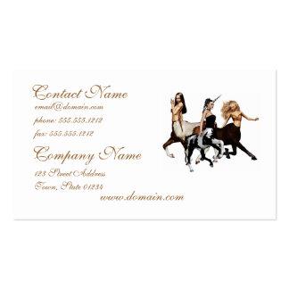 Tarjetas de visita de los Centaurs