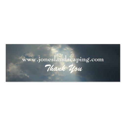 Tarjetas de visita de los cielos nublados
