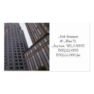 Tarjetas de visita de los edificios de oficinas