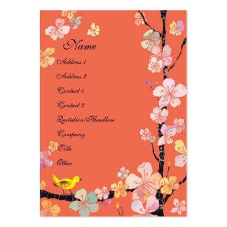 Tarjetas de visita de los floristas de Sakura