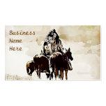 Tarjetas de visita de los guerreros de Cheyenne de