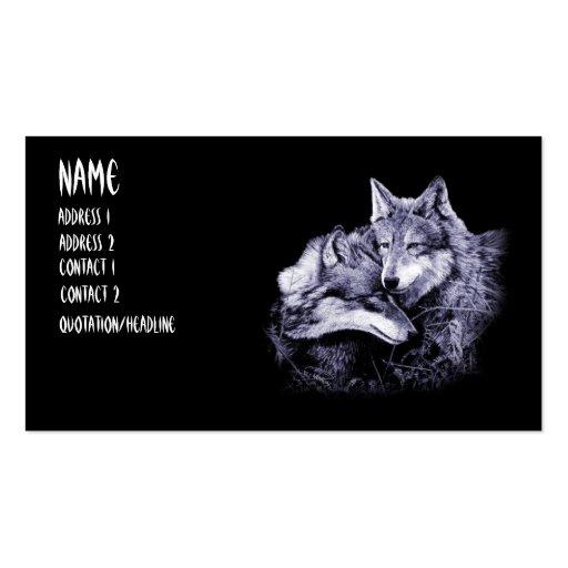 tarjetas de visita de los lobos