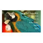 Tarjetas de visita de los Macaws
