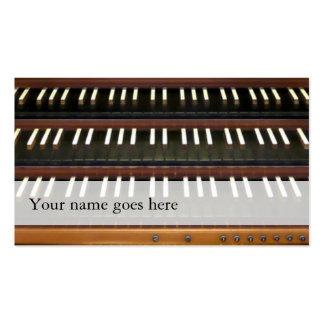 Tarjetas de visita de los manuales del órgano -