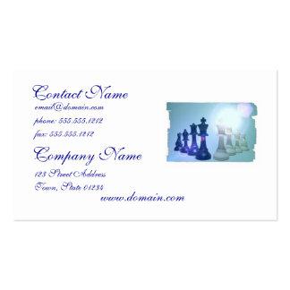 Tarjetas de visita de los movimientos de ajedrez