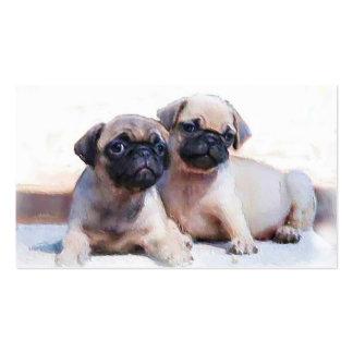 Tarjetas de visita de los perritos del barro amasa