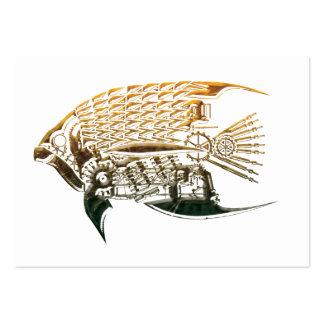 Tarjetas de visita de los pescados de Steampunk