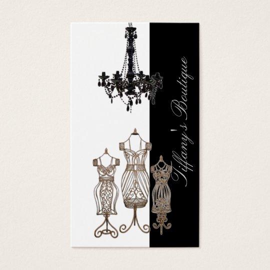 Tarjetas de visita de lujo del boutique de la