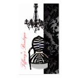 Tarjetas de visita de lujo del boutique de la lámp