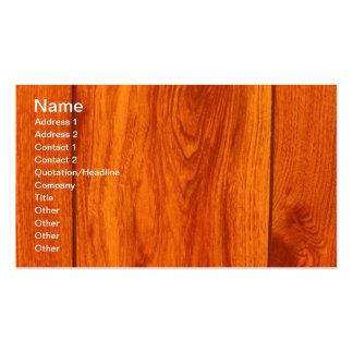 Tarjetas de visita de madera de la teja del suelo