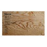 Tarjetas de visita de madera del grano del diseñad