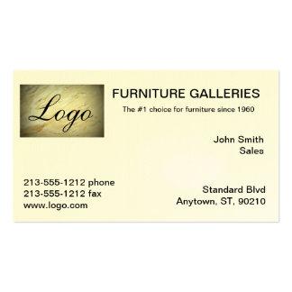 Tarjetas de visita de mármol clásicas del logotipo