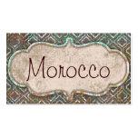 Tarjetas de visita de Marruecos