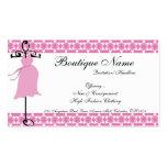 Tarjetas de visita de maternidad rosadas del bouti