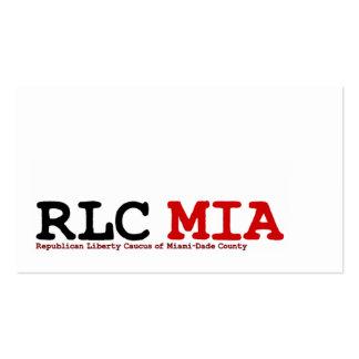 Tarjetas de visita de MIA de RLC