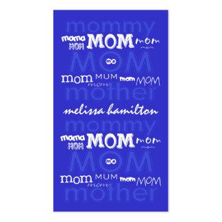 Tarjetas de visita de moda de la mamá