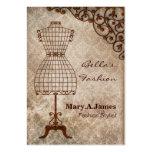 tarjetas de visita de moda del maniquí del vintage