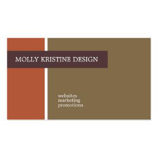 Tarjetas de visita de Molly Kristine
