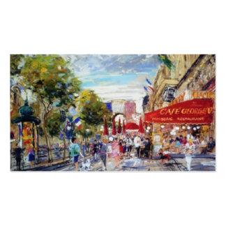 Tarjetas de visita de Montmarte personalizadas