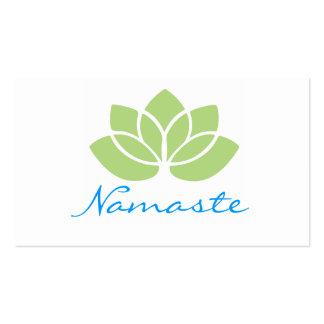 Tarjetas de visita de Namaste