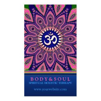 Tarjetas de visita de NewAge de la yoga de la mand