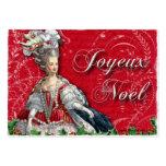Tarjetas de visita de Noel del navidad de Marie An