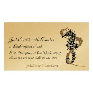 Tarjetas de visita de Nouveau del arte del Seahors
