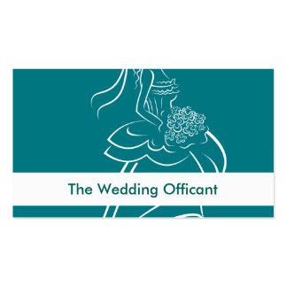 Tarjetas de visita de Officant del boda