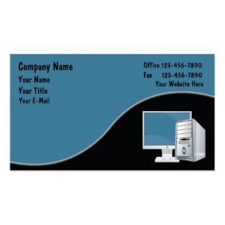 Tarjetas de visita de ordenadores
