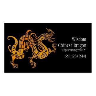 Tarjetas de visita de oro chinas asiáticas del dis