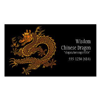 Tarjetas de visita de oro chinas asiáticas del dra