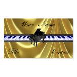 Tarjetas de visita de oro del oro del piano de col